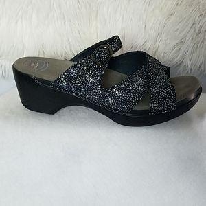 Dansko Platform Leather Sandals